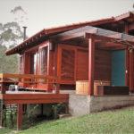 Casa de madeira pré fabricada, Rio das Flores